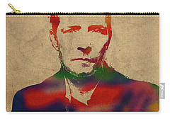 Scott Weiland Stone Temple Pilots Watercolor Portrait Carry-all Pouch