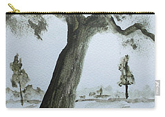 Carry-all Pouch featuring the painting Scraggly Old Tree by Jack G Brauer