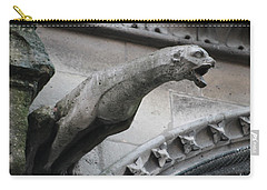 Screaming Griffon Notre Dame Paris Carry-all Pouch by Christopher Kirby