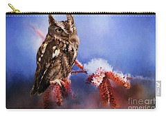 Screech Owl Carry-all Pouch by Suzanne Handel