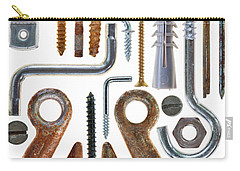 Screws, Nut Bolts, Nails And Hooks Carry-all Pouch