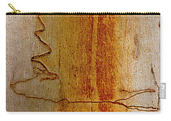 Carry-all Pouch featuring the photograph Scribbly Gum Bark by Werner Padarin