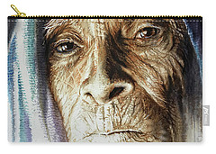 Carry-all Pouch featuring the painting Scripts Of Ancestral Light  by J- J- Espinoza