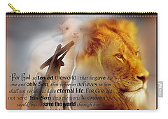 Scripture Art    Lamb Of God Carry-all Pouch