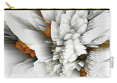 Carry-all Pouch featuring the digital art Sculptural Series Digital Painting 05.072311 by Kris Haas
