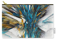 Carry-all Pouch featuring the painting Sculptural Series Digital Painting 08.072311ex490l by Kris Haas