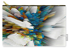 Carry-all Pouch featuring the digital art Sculptural Series Digital Painting 08.072311wscvssex490l by Kris Haas