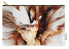 Carry-all Pouch featuring the digital art Sculptural Series Digital Painting 23.120210ext5100l by Kris Haas