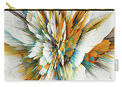 Carry-all Pouch featuring the digital art Sculptural Series Digital Painting 05.072311ex590lvs.jpg  by Kris Haas
