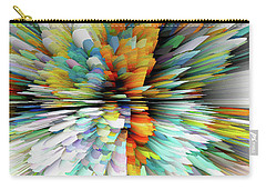 Carry-all Pouch featuring the digital art Sculptural Series Painting23.102011windblastsccvsext4100l by Kris Haas
