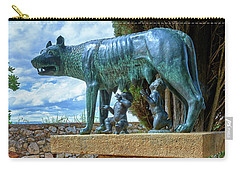 Carry-all Pouch featuring the photograph Sculpture Of The Capitoline Wolf With Romulus And Remus by Eduardo Jose Accorinti