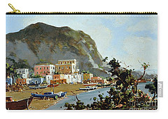Sea And Mountain With Boats Carry-all Pouch