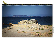 Carry-all Pouch featuring the photograph Sea And Rocks by Milena Ilieva