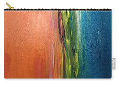Sea And Sky Metallic Carry-all Pouch