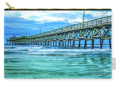 Sea Blue Cherry Grove Pier Carry-all Pouch