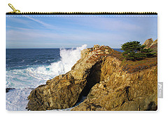 Carry-all Pouch featuring the photograph Sea Cave Big Sur by Floyd Snyder