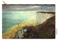 Sea, Cliffs, Beach And Lighthouse Carry-all Pouch