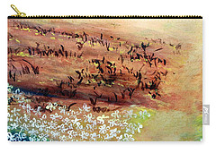Carry-all Pouch featuring the painting Sea Earth  by Winsome Gunning