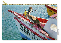 Carry-all Pouch featuring the photograph Sea Fly 1, Aruba by Monique Faella