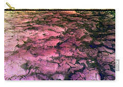 Sea Foam Pinkish Black Carry-all Pouch
