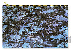 Sea Foam Black And Blue Carry-all Pouch