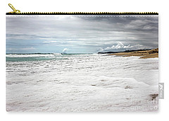 Carry-all Pouch featuring the photograph Sea Foam And Clouds By Kaye Menner by Kaye Menner