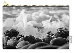 Sea Foam B-w Carry-all Pouch by Sergey Simanovsky