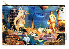 Carry-all Pouch featuring the painting Sea Garden by Gail Kirtz