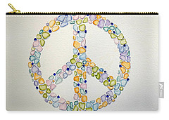 Sea Glass Peace Symbol Carry-all Pouch