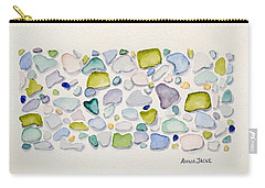 Sea Glass Puzzle - Follow Your Heart Carry-all Pouch
