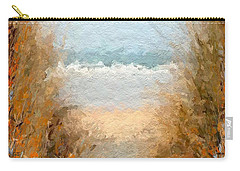 Carry-all Pouch featuring the mixed media Sea Grass Abstract  by Anthony Fishburne