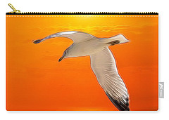 Carry-all Pouch featuring the photograph Sea Gull by Athala Carole Bruckner