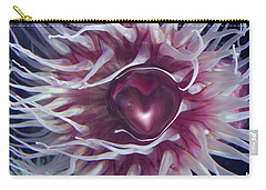Carry-all Pouch featuring the digital art Sea Heart by Linda Sannuti