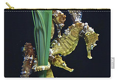 Carry-all Pouch featuring the photograph Sea Horse by Joan Reese