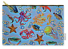 Sea Life Abstract Carry-all Pouch