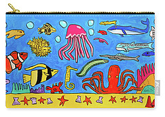 Sea Life Carry-all Pouch by Artists With Autism Inc