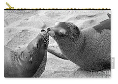 Carry-all Pouch featuring the photograph Sea Lion Tenderness by John F Tsumas