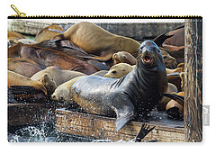 Sea Lions On The Floating Dock In San Francisco Carry-all Pouch
