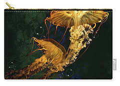Carry-all Pouch featuring the digital art Sea Nettle Jellies by Thanh Thuy Nguyen