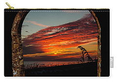 Sea Oats And Sunset Carry-all Pouch
