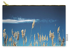 Carry-all Pouch featuring the photograph Sea Oats On A Blue Day by Colleen Kammerer