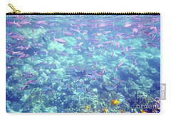 Carry-all Pouch featuring the photograph Sea Of Fish by Karen Nicholson