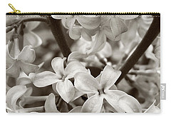 Sea Of Lilacs Sepia Carry-all Pouch by Kathi Mirto