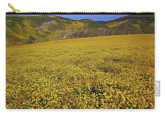 Carry-all Pouch featuring the photograph Sea Of Yellow Up In The Temblor Range At Carrizo Plain National Monument by Jetson Nguyen