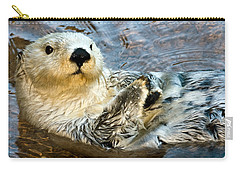 Sea Otter Portrait Carry-all Pouch