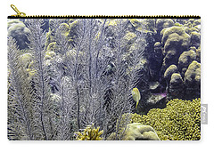 Carry-all Pouch featuring the photograph Sea Plumes Coral 2 by Perla Copernik