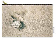 Carry-all Pouch featuring the photograph Sea Shell On Beach  by John McGraw