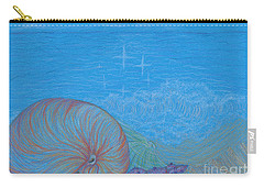 Carry-all Pouch featuring the drawing Sea Shore by Kim Sy Ok