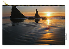 Carry-all Pouch featuring the photograph Sea Stacks by Inge Riis McDonald