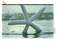 Carry-all Pouch featuring the photograph Sea Star Vert by Laura Fasulo